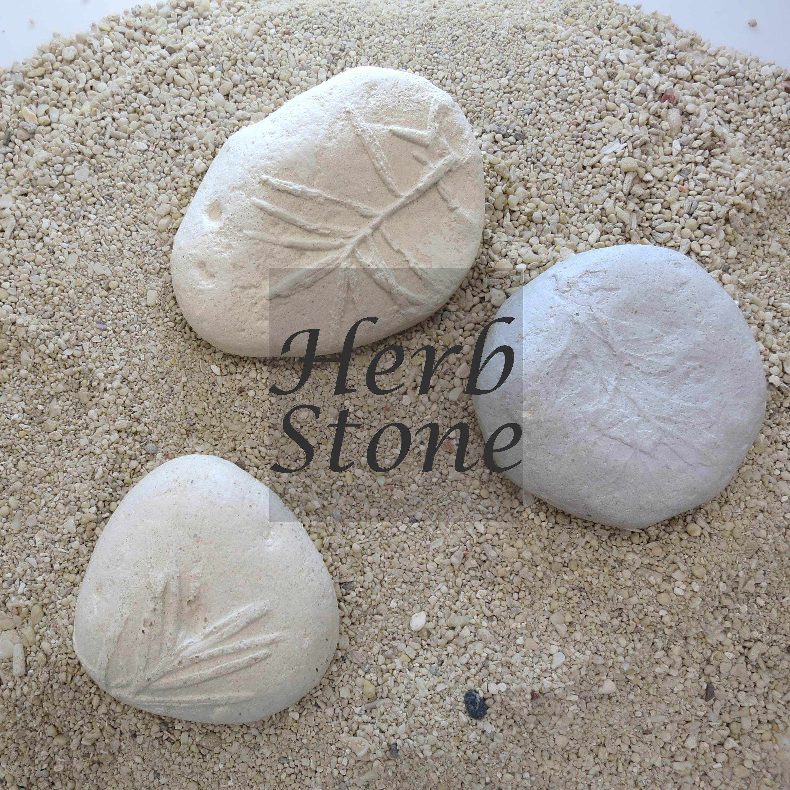 アロマストーン - ハーブ柄のおまもり石 -