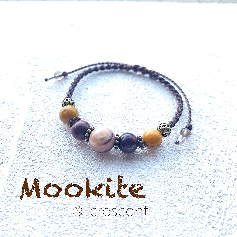 ムーアカイト(モッカイト)のマクラメ編みブレスレット