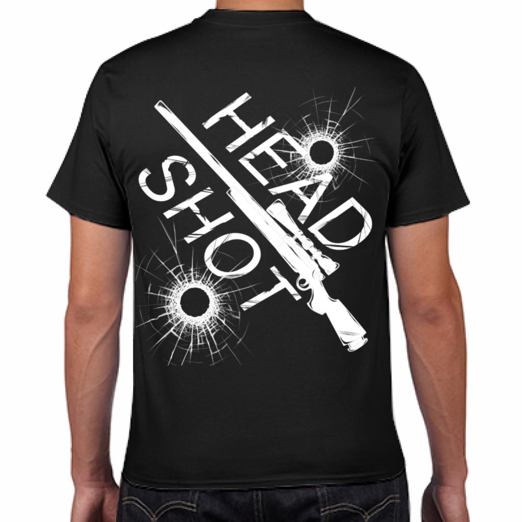 HEAD SHOT SR-Tシャツ~メンズブラック*Disitnclothオリジナル