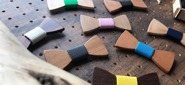 木の蝶ネクタイ wood chocolate