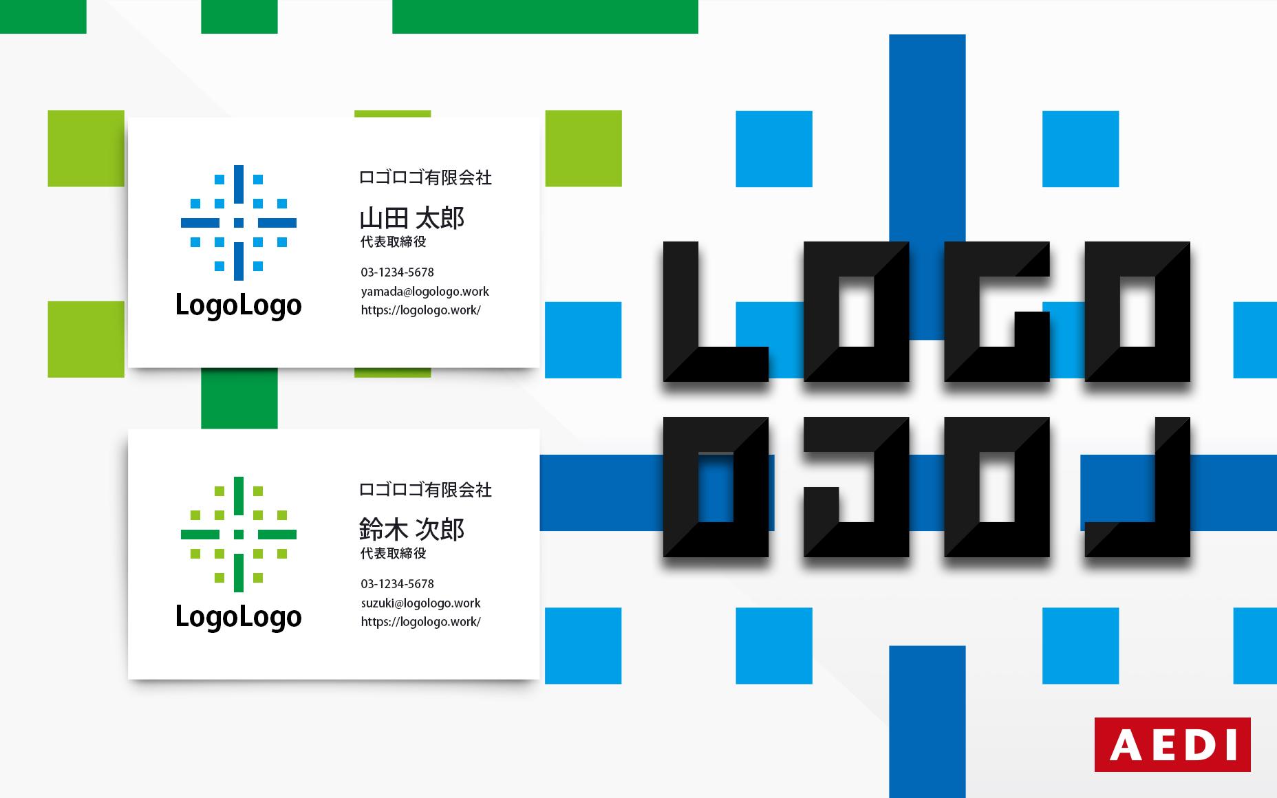 ロゴマークのデザインならロゴロゴ。ロゴ011 セミオーダーロゴとオーダーメイドロゴ