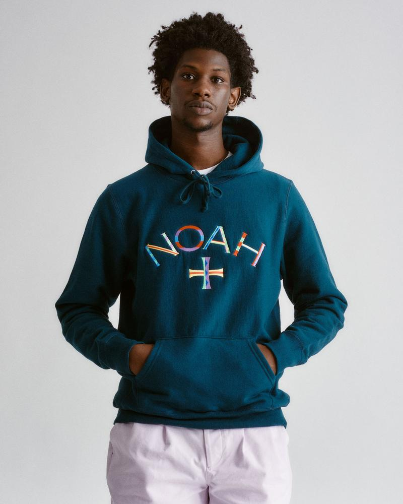 Color Embroidered Core Logo Lightweight Hoodie-¥16,280
