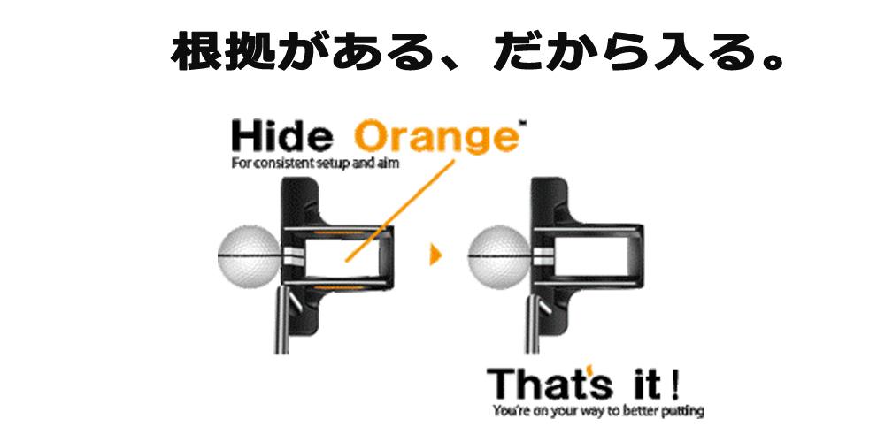 オレンジを隠す