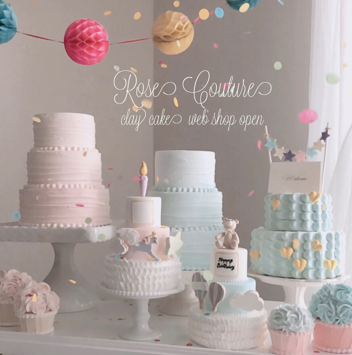 Rose  Couture clay cake  shop