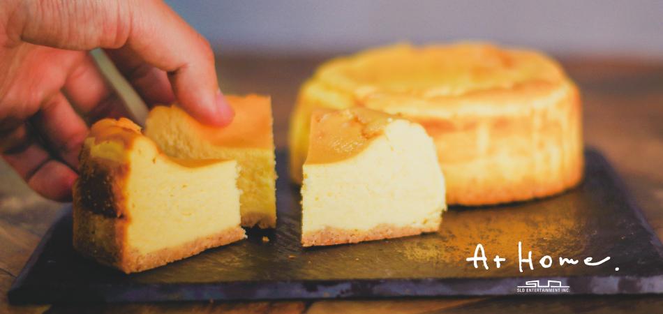 手作りしっとりレア仕立てのベイクドチーズケーキ